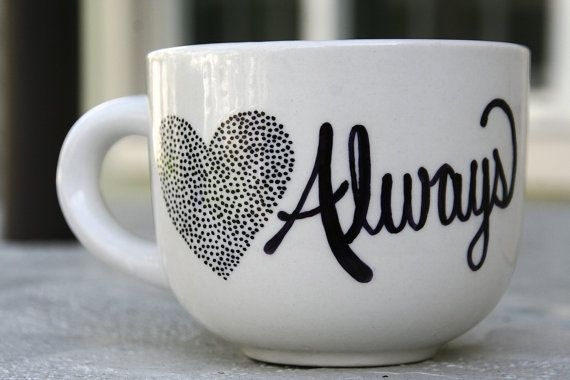 Love Always Hand Painted Coffee Mug