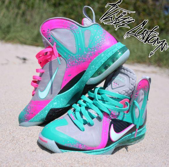 Nike Lebron 9 South Beach Elite Sex on the Beach I think i love the  bubblegum looking shoes