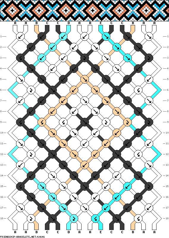 14 strings, 5 colors, 18 rows
