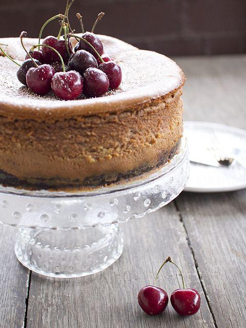 chocolate bourbon cherry cheesecake by spicyicecream