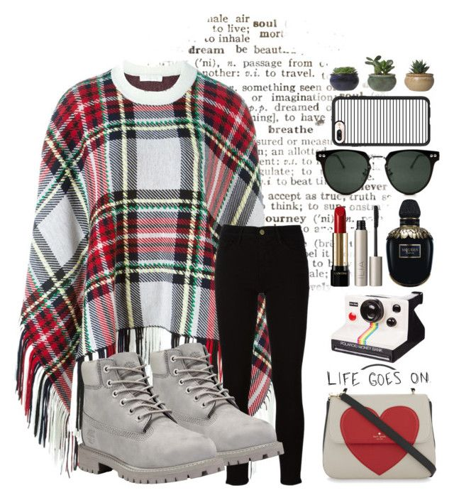 """""""Plaid"""" by roguedesigner21 ❤ liked on Polyvore featuring Chloé, Kate Spade, Frame, Timberland, Love Quotes Scarves, Polaroid, Lancôme, Ilia, Alexander McQueen and Spitfire"""