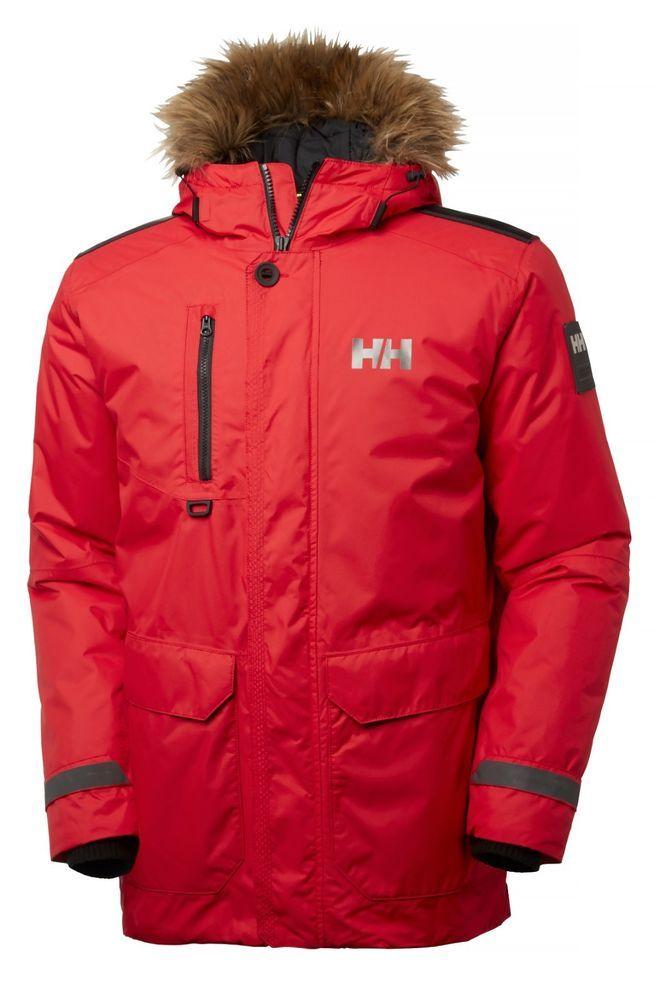 57dd9caaf Helly Hansen Mens Svalbard Parka Sport / Leisure Wear Flag Red - L ...