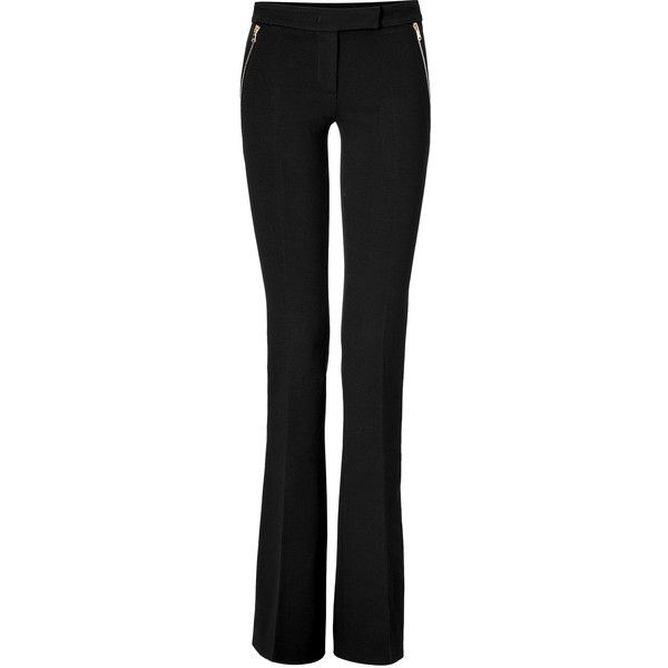 Emilio Pucci - Wool Bootcut Pants (1.990 BRL) ❤ liked on Polyvore featuring pants, black, wide leg, women, wide leg pants, wide leg flare pants, wide leg trousers, zipper pants and flared leg pants