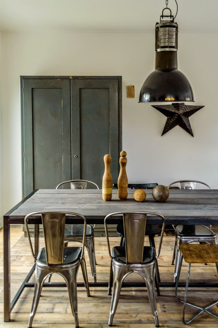 Industrial Style Kitchen Table 17 Best Ideas About Industrial Dining Chairs On Pinterest