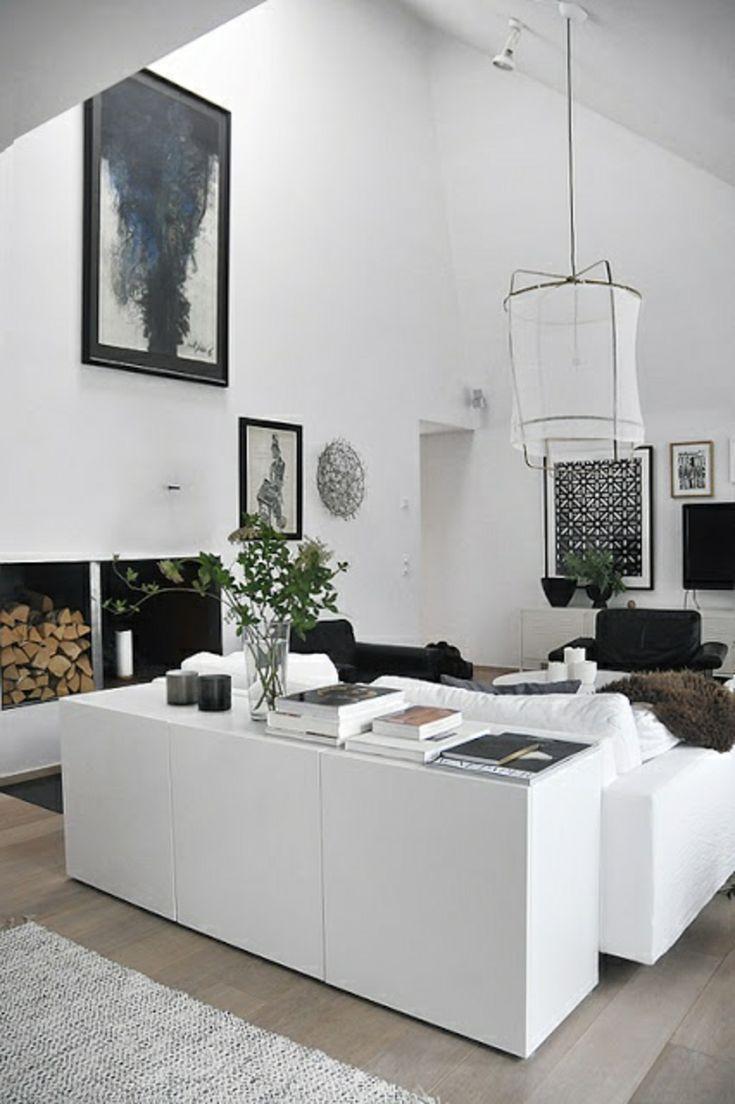 besta wohnzimmer ideen:Black and White Living Room