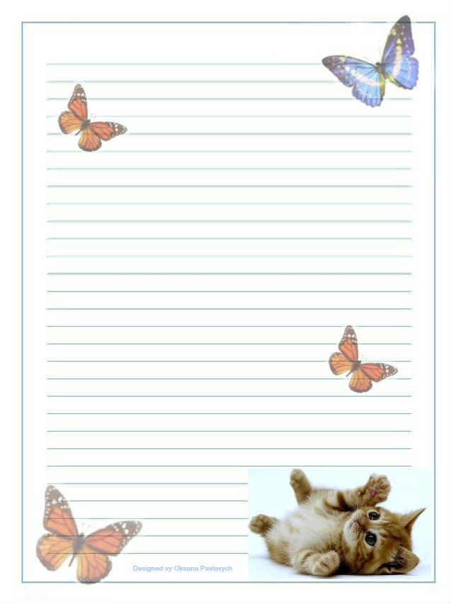 262 best Cat stationery images on Pinterest Writing paper, Free - free lined stationery