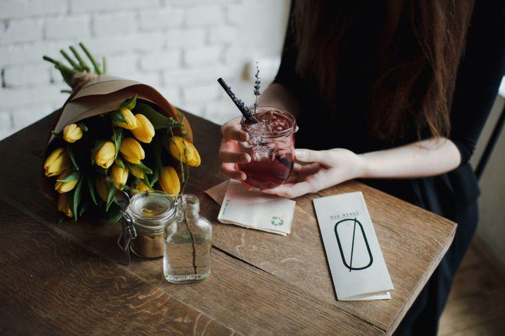 Not a coffee but a lavender lemonade in Skøg, Brno – Lera Lazareva