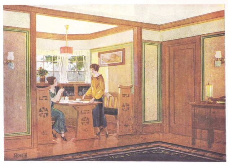 344 best house interiors early 1900s images on pinterest for Decorating 1920s bungalow