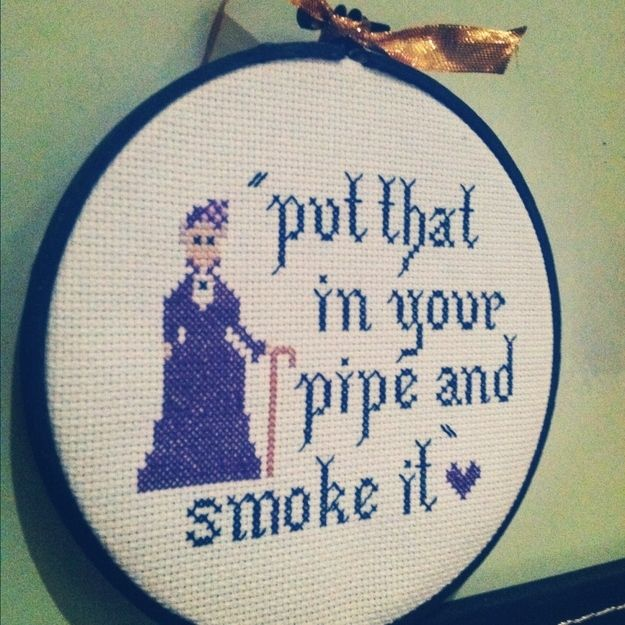 Need this #downtownabbey inspired cross-stitch STAT.