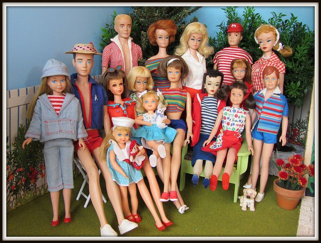4th of July vintage Barbie picnic
