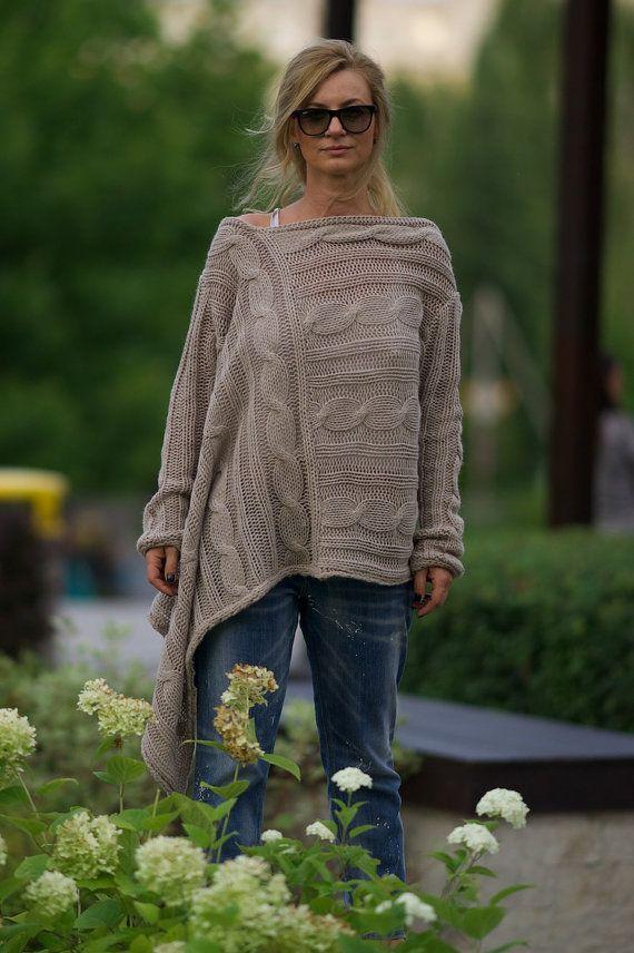 Lockere Pullover Plus Größe, ab Schulter, übergroße Pullover, Womens Pullover stricken Pullover, warme Platten, trendige Pullover, Womens Pullover