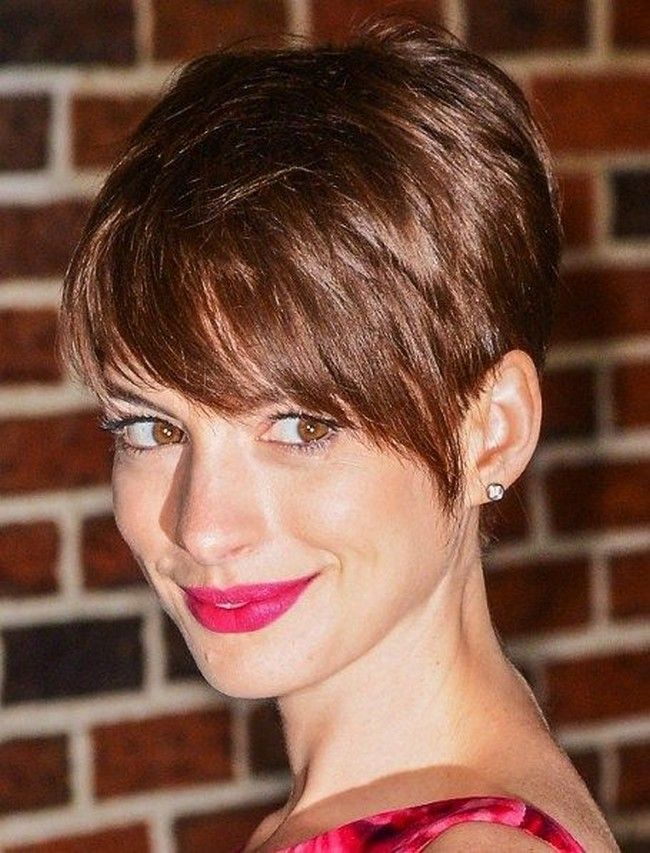 New short layered razor hairstyles - this short and sassy, gamine style for older women is all about texture. Description from hairpictures.info. I searched for this on bing.com/images