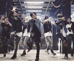 """BTS in the """"Danger"""" mv. Loved the dance!"""
