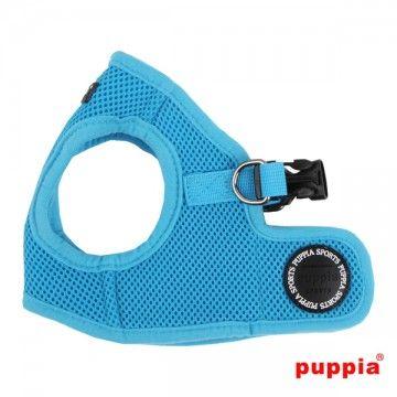 harnais puppia bleu pour chien