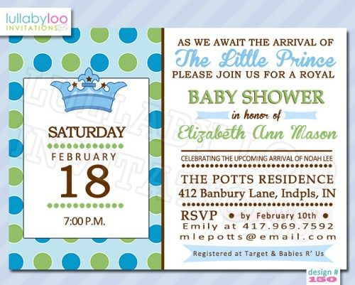 prince baby boy baby shower invitations baby shower invitations