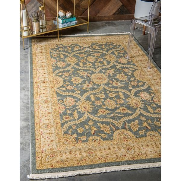 Unique Loom Tansy Edinburgh Area Rug Area Rugs Beige Area Rugs