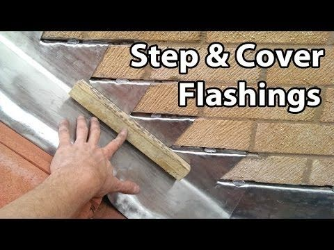 How to Install Step and Cover Flashing - For Roof Tiles and Chimney Flashings - YouTube
