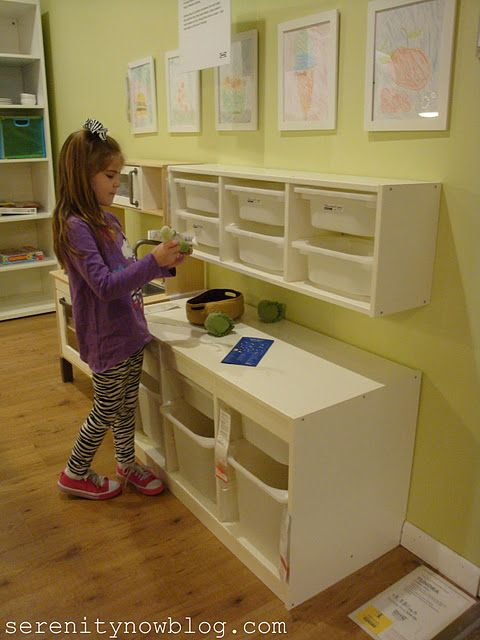 Great post on organizing ideas at IKEA, love this one for kids rooms