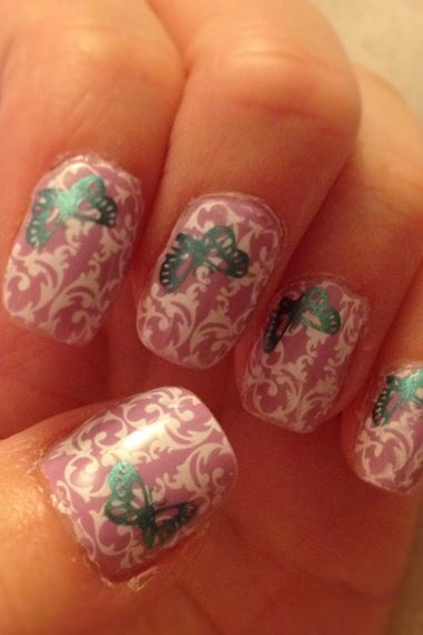 Baroque Butterfly nails