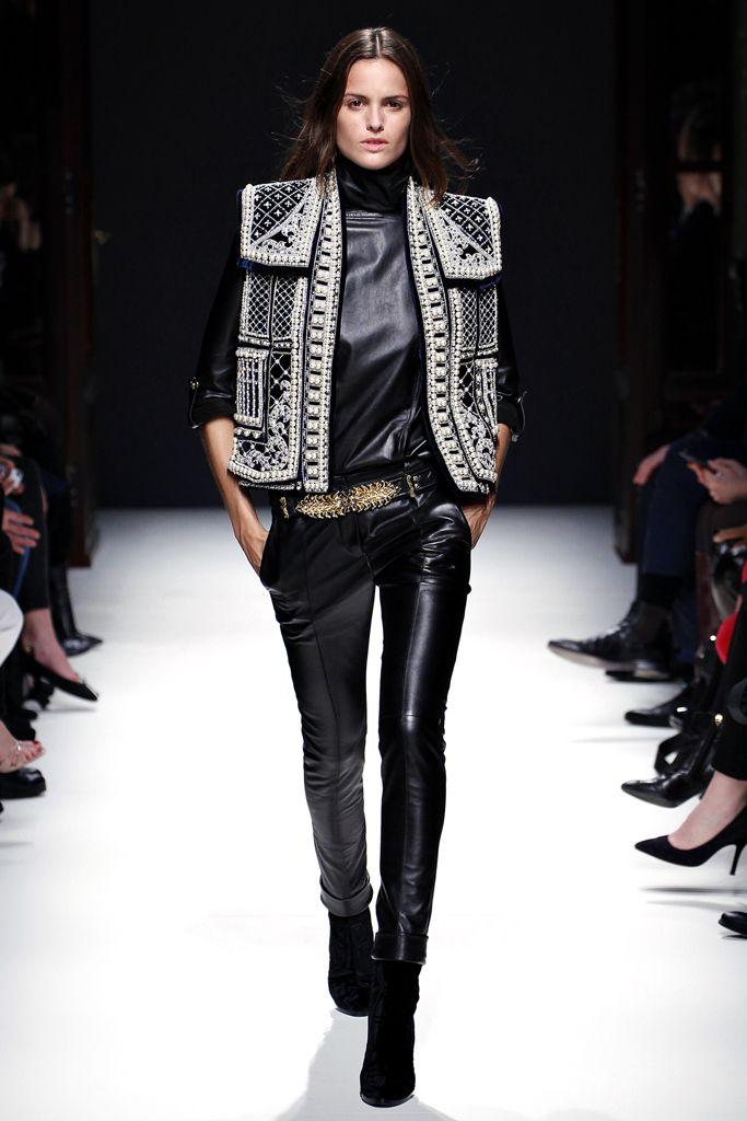 Google Image Result for http://4.bp.blogspot.com/--U2IH4eb8_s/UHGg-bYGKRI/AAAAAAAAAxA/QrmLmaHnKxc/s1600/embroidered%2Bvest.jpgBalmain Fall, Fashion Weeks, Paris Fashion, 2012 2013, Fall 2012, Winter Collection, Leather Pants, Balmain 2012, 2012 Rtw