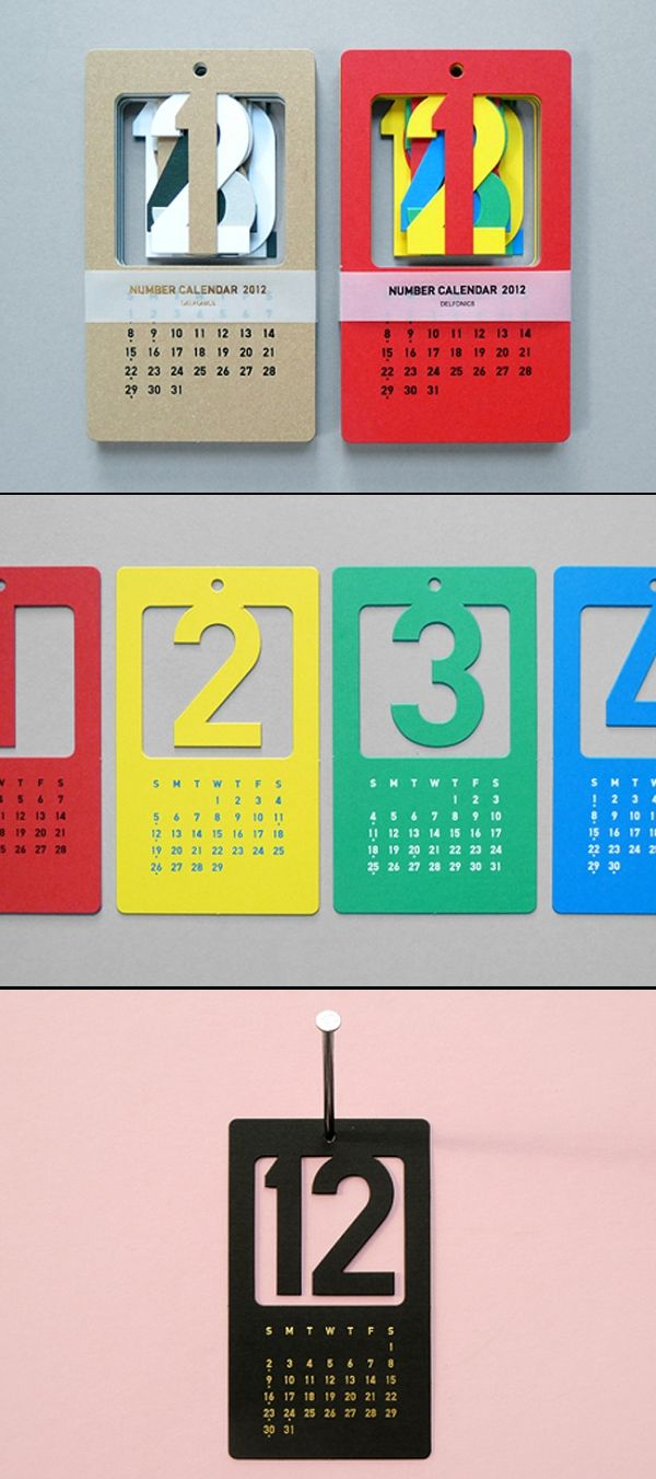 number calendar typography graphic design - Graphic Design Project Ideas