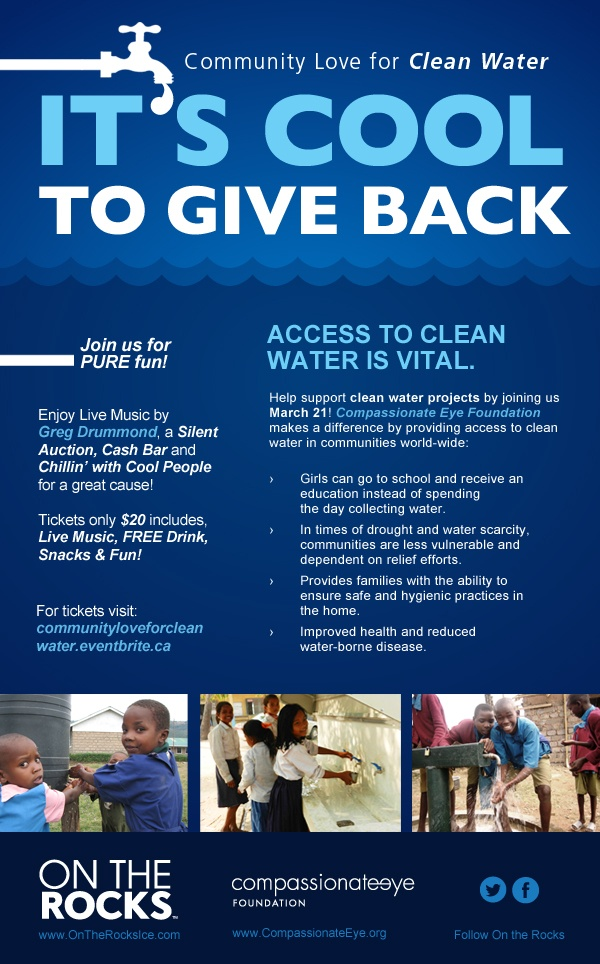 Community Love for Clean Water Fundraiser March 21, 2013! #communitylove #itscooltogiveback #fundraiser #worldwaterday #water #cool