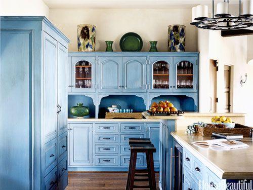 10 Happy Kitchens Blue CabinetsTurquoise