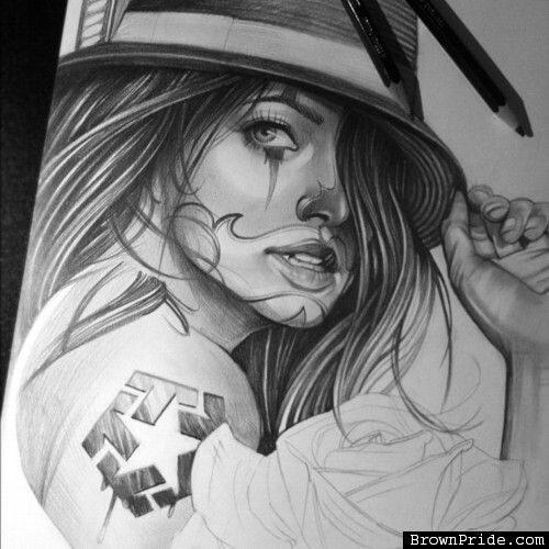 chicana drawing tattoos pinterest drawings. Black Bedroom Furniture Sets. Home Design Ideas