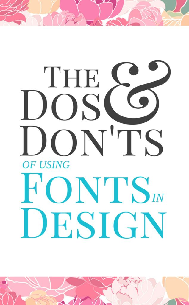 Do's and Dont's of Using Text in Design - Silhouette Studio and Cricut Design Space - by cuttingforbusiness.com