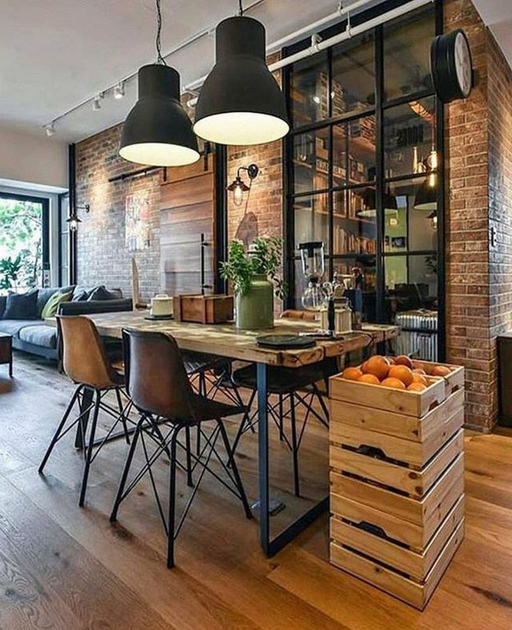 20+ Good Interior and Loft Design Ideas in Industrial Style
