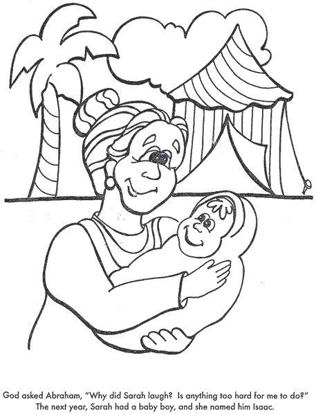 Abraham And Sarah Baby Isaac Coloring Page