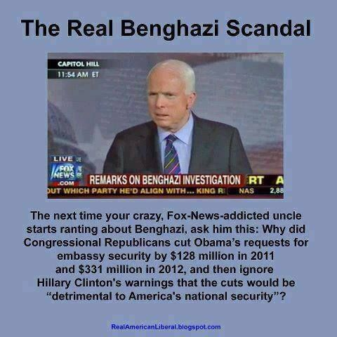 Remember this November 2014 and when Hillary runs for president in 2016 because you can be sure the GOP will bring up Benghazi again.