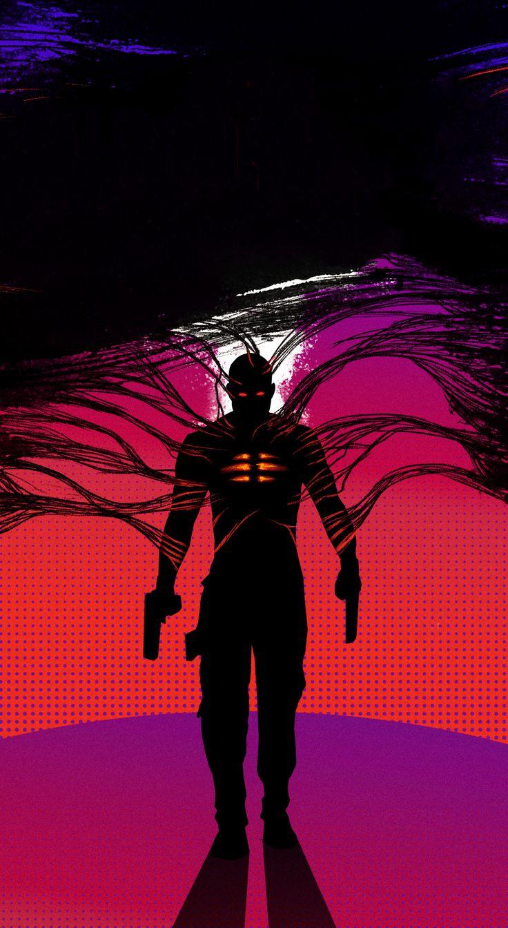 1440x2630 2020 movie, Bloodshot, silhouette, art wallpaper