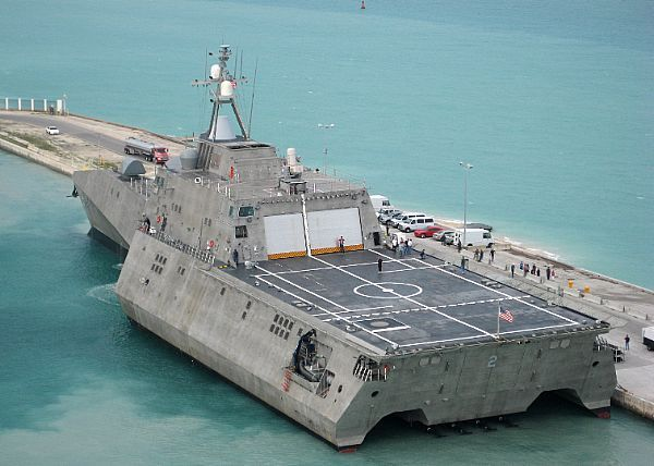 USS Independence (LCS 2) arrives at Mole Pier at Naval Air Station Key West