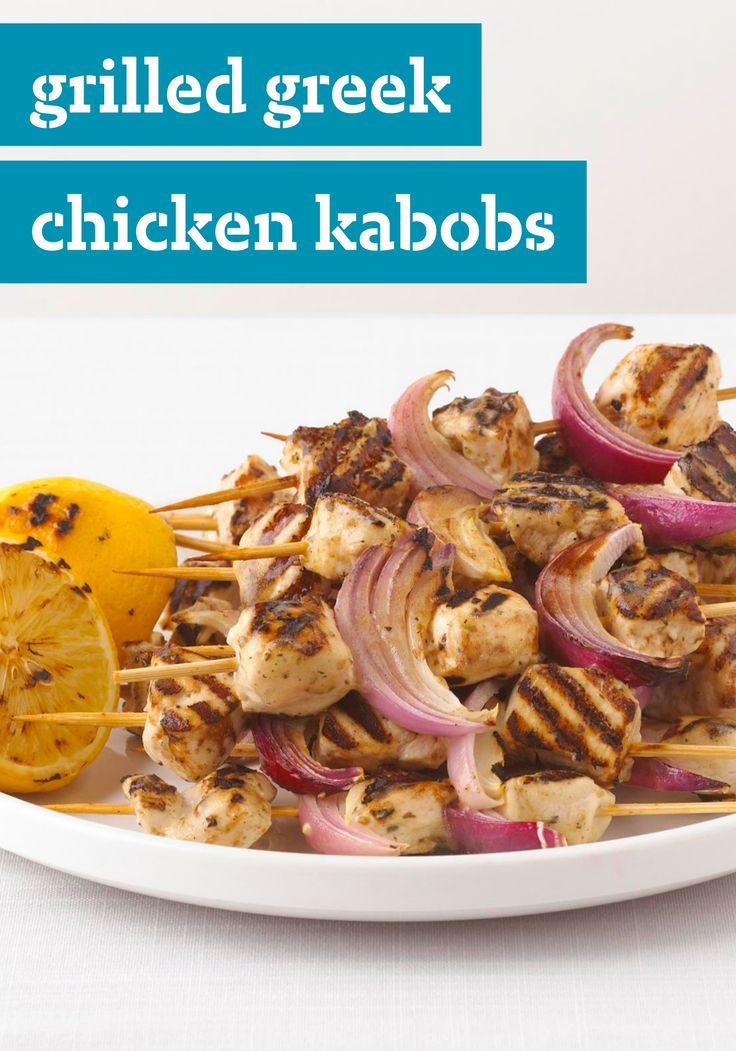 Grilled Greek Chicken Kabobs -- Enjoy classic Greek ...