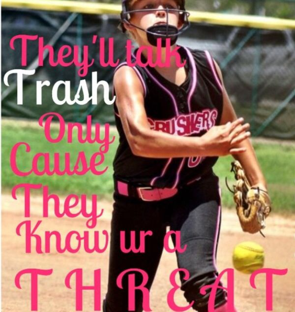 This is me pitching in a tournament during the summer and a softball quote that I love❤️