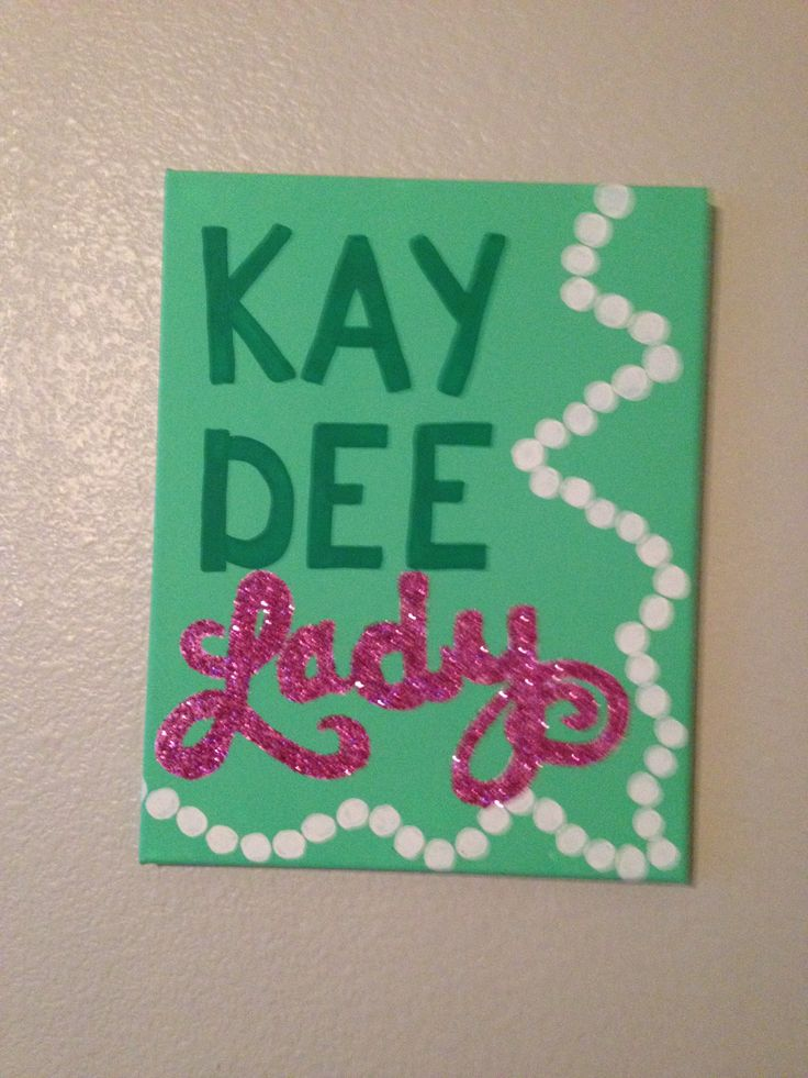 Kappa Delta big/little idea Kay Dee Lady