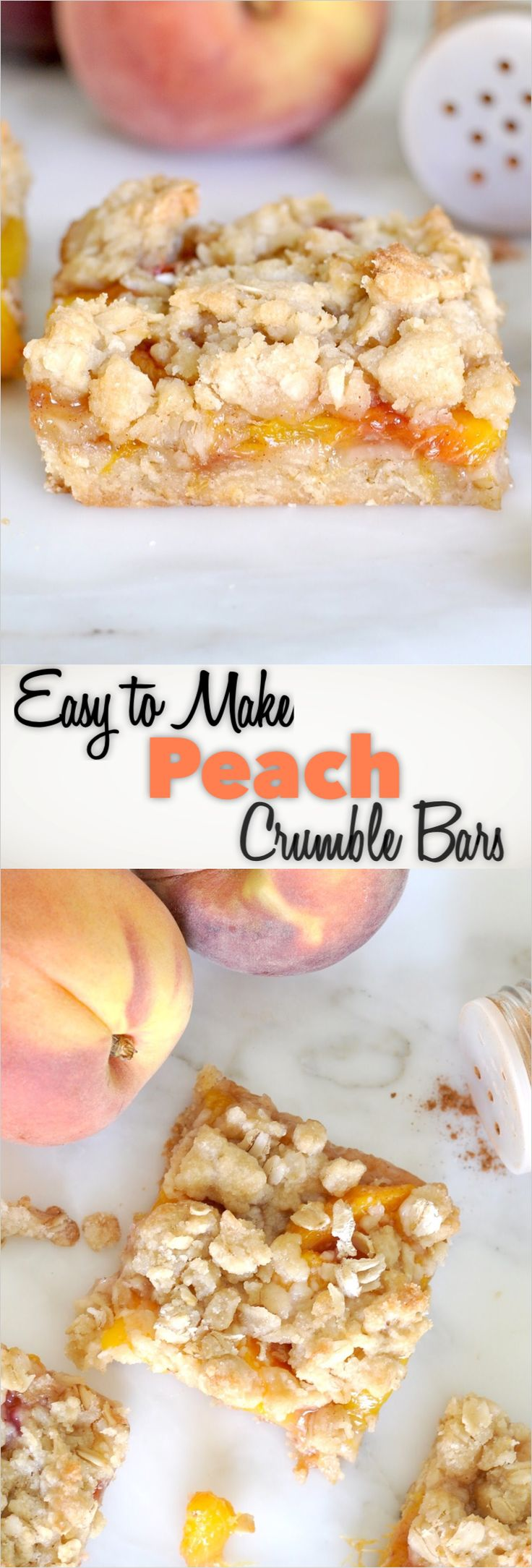 Easy-to-make Peach Crumble Bars For a quick, easy and mouthwatering summer treat...