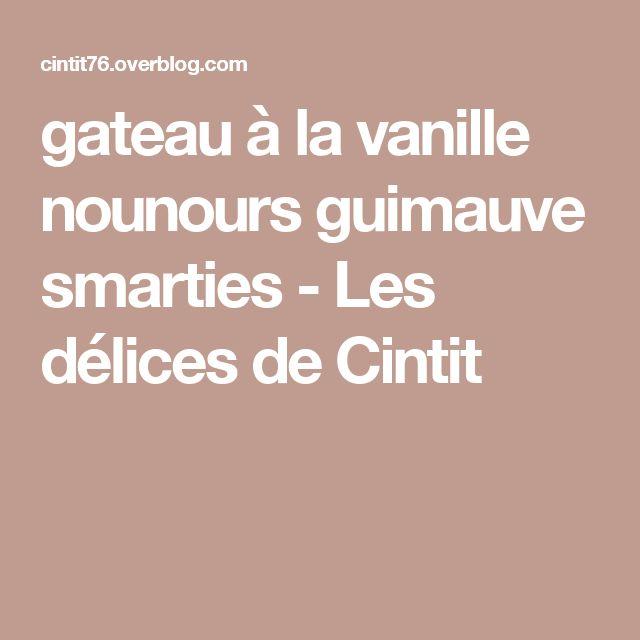 Gateau vanille guimauve