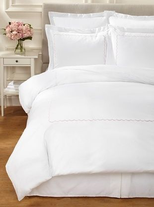 59% OFF Westport Linens Scalloped Duvet Set (Rose)