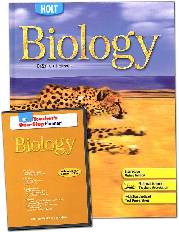 Holt Biology Homeschool Package Teacher Association Biology Homeschool