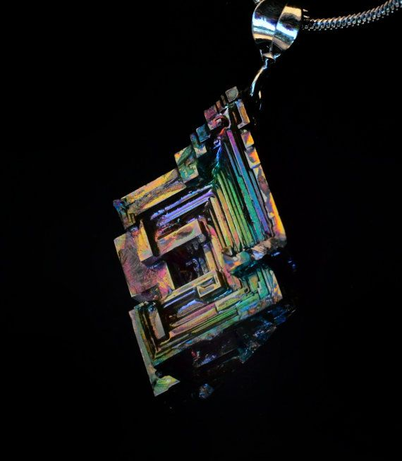 Neoclassical Kaleidoscope Iridescent Bismuth Metal by Element83, $42.00