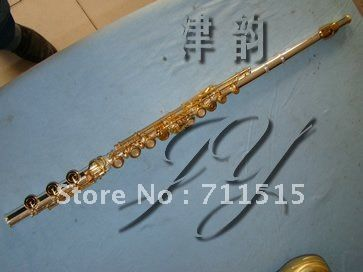 ==> [Free Shipping] Buy Best Musical Instruments Flute 17 Holes Open Plus the E Key Silver Plated Gold Metal Flute Transverse Flute Vertical Bamboo Flute Online with LOWEST Price   32798411247