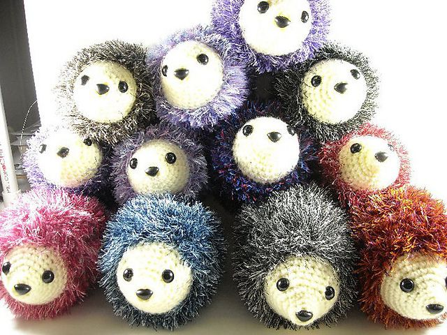 Ravelry: Simple Crochet Hedgehog pattern by Nickie Engle (I made this!  T~Cakes approved)