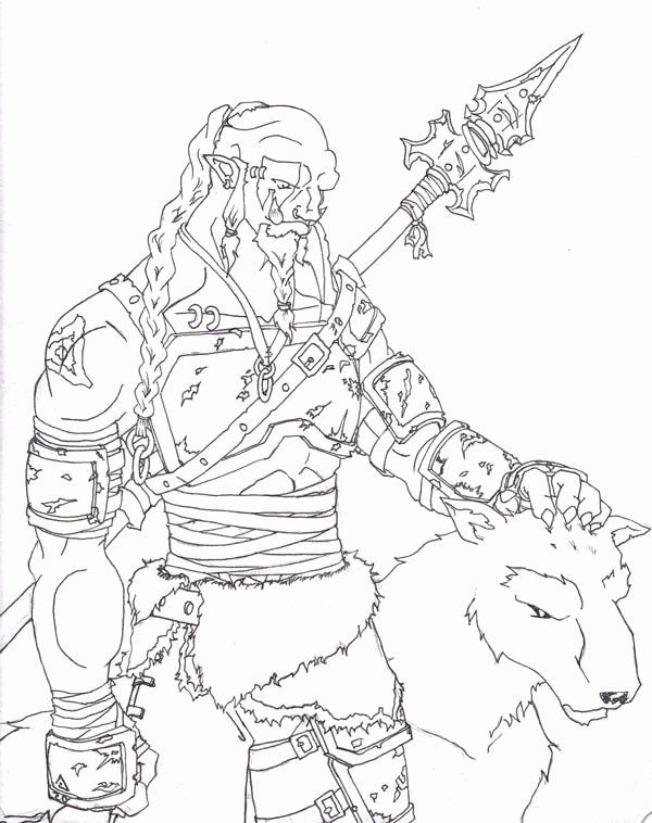 World Of Warcraft Coloring Book Awesome World Of Warcraft Orc Hunter Coloring Page Mandala Coloring Books Lost Ocean Coloring Book Warcraft Orc