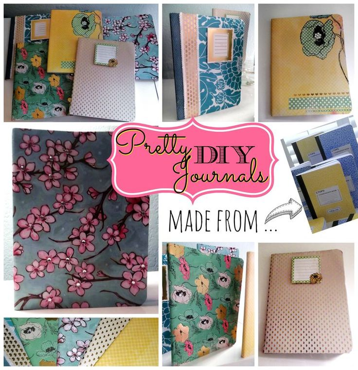 Pretty journals made from 59 cent composition books!  Would make cute Christmas gifts!