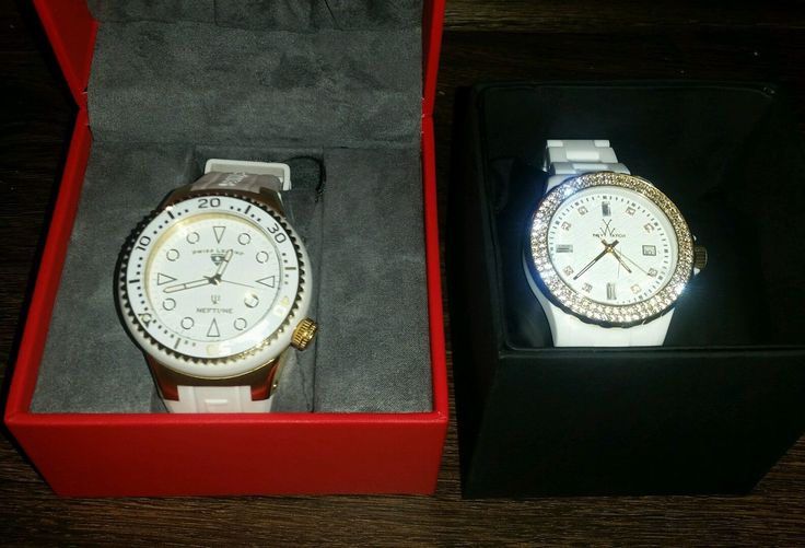 2  for 1 deal-ToyWatch PCLS25PG Crystal Gold Tone Bezel White Band  Watch.