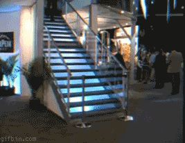 image drole gif escalier