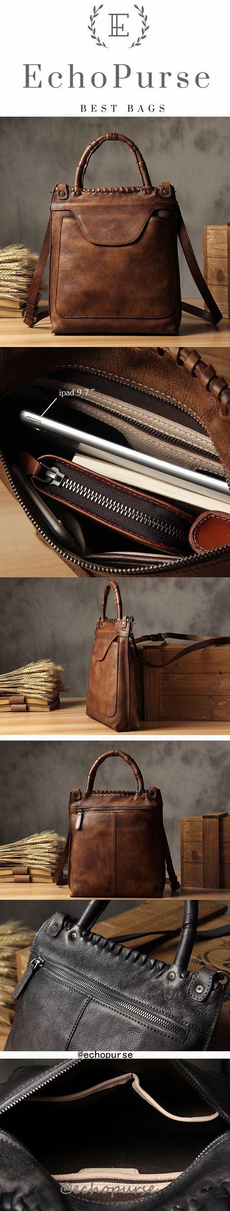 Vintage Leather Crossbody Bag, Briefcase, Men's Shoulder Bag, Handbag YS532
