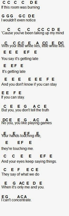Flute Sheet Music: Little White Lies by one direction
